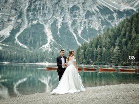 wedding session lake braies italy