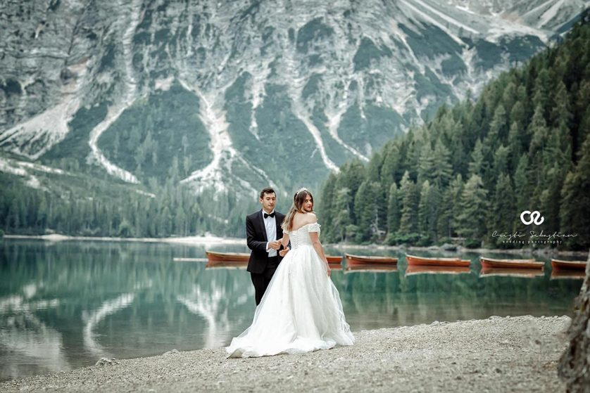 wedding session lake braies italy